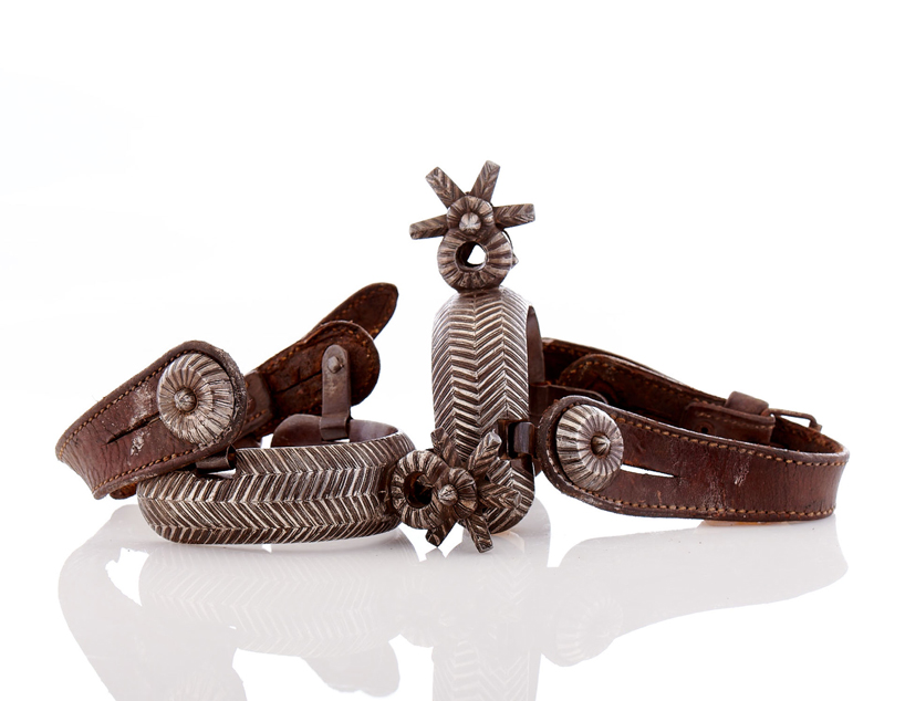 Lot29-Mexico Charro Style Spurs