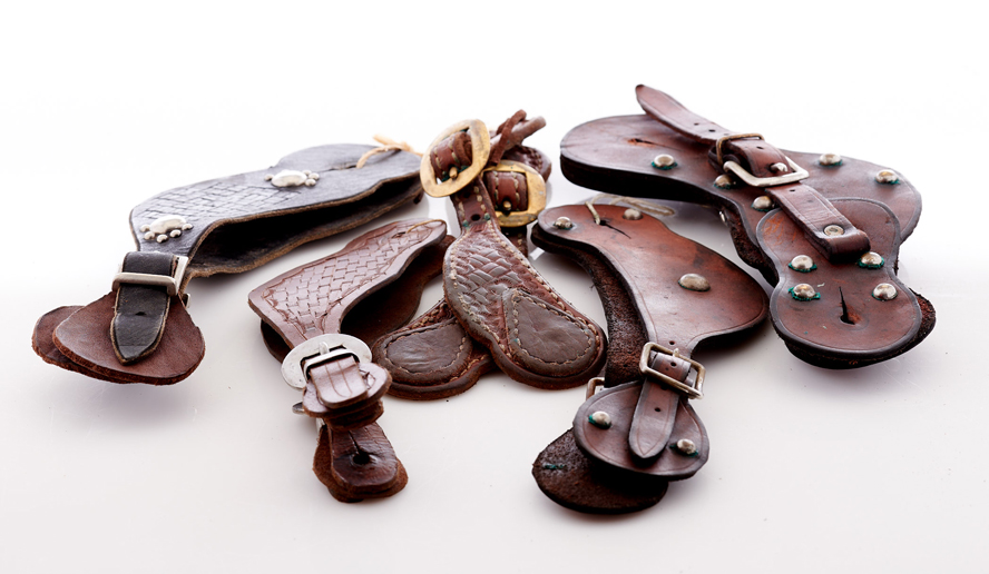 Lot328-Leather Spur Straps