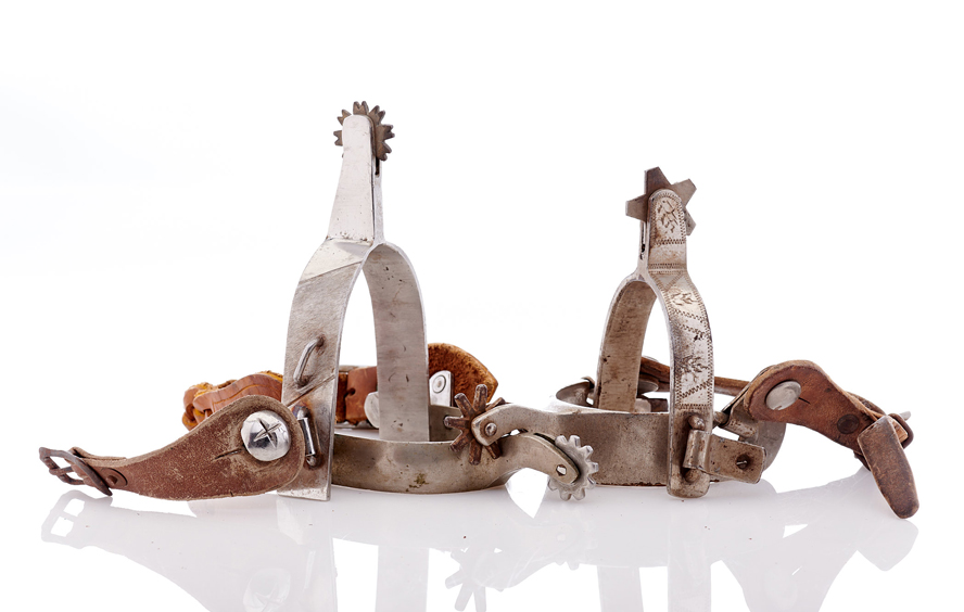 Lot457-Cowboy Riding Spurs