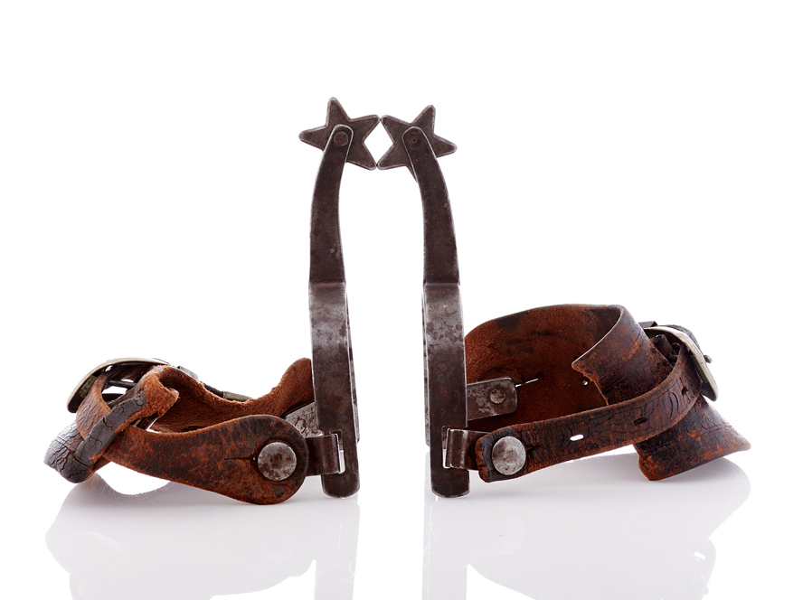 Lot494-Cowboy Riding Spurs