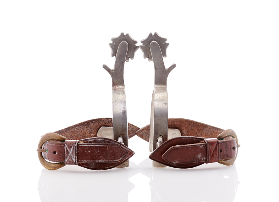 Lot502-Cowboy Riding Spurs
